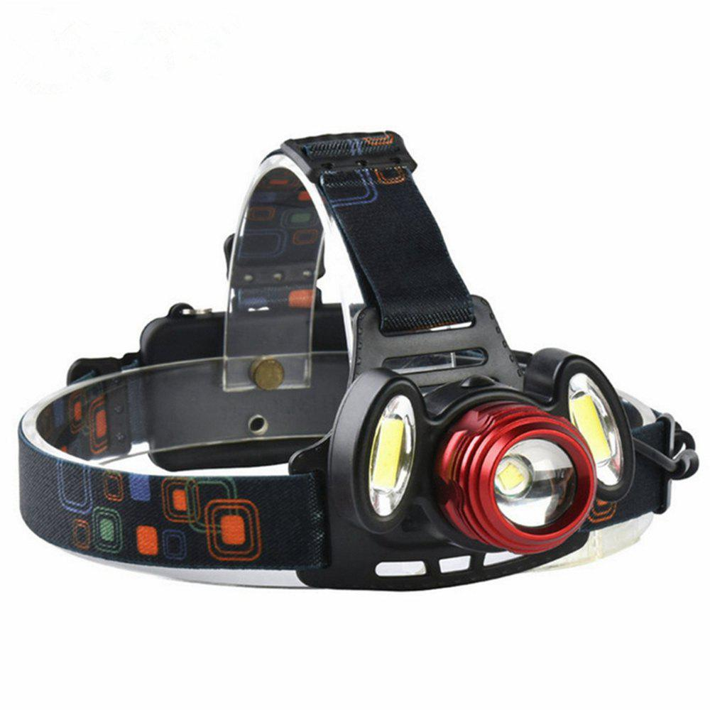 Trendy ZHISHUNJIA YH6783 1xXMLT6+2xCOB 900lm LED 4Mode White Zooming Focus Headlight
