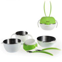 Berz Children Feeding Dinnerware Mixing Bowl Dish Cup Spoon Folk 5 in 1 -