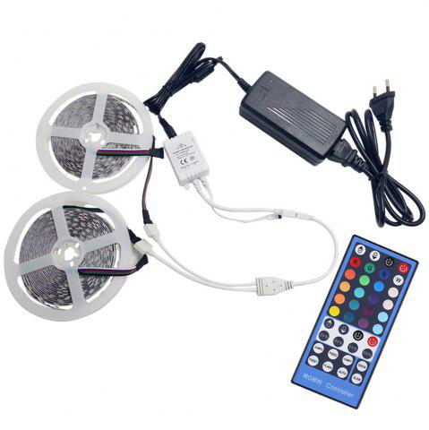 Fashion KWB 2 x 5M LED Strip Light 5050 RGBW 600LEDs with 24Key Remote and Power Supply
