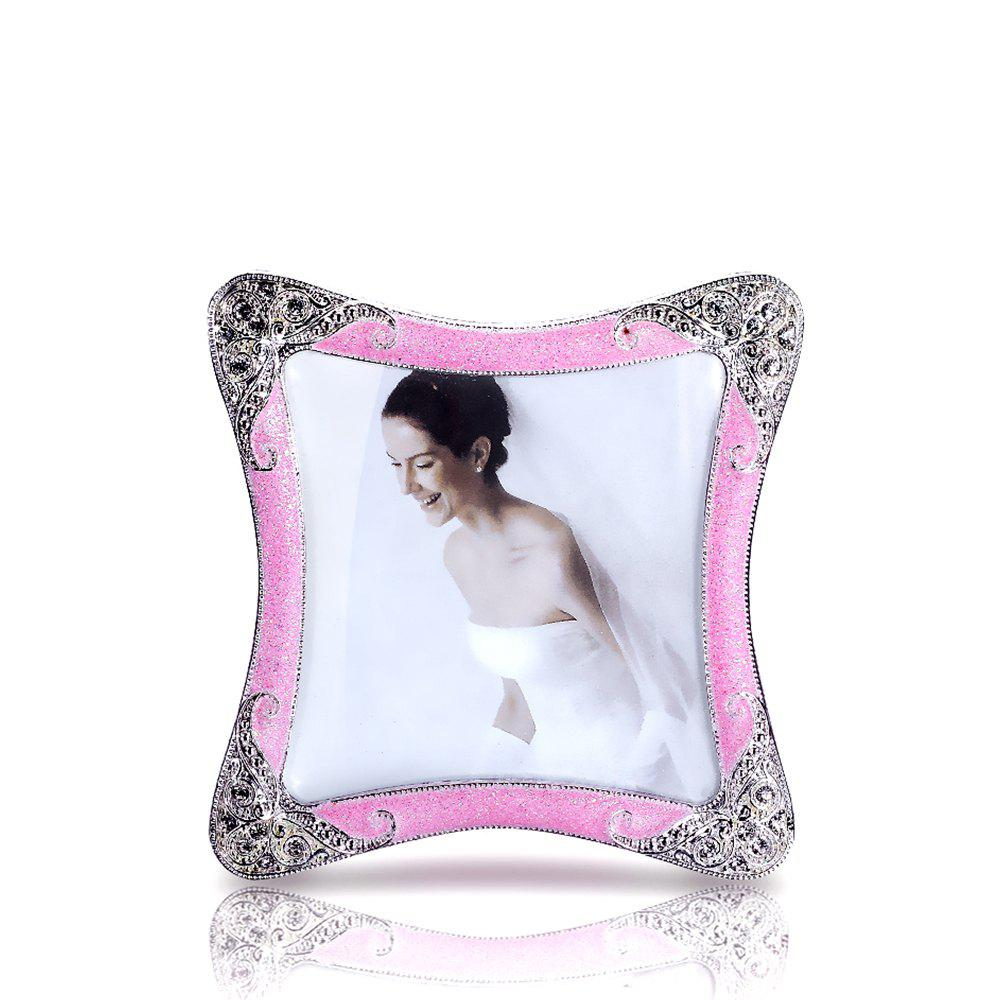 Store Bz-01 European Retro Artificial Diamond Metal Photo Frame