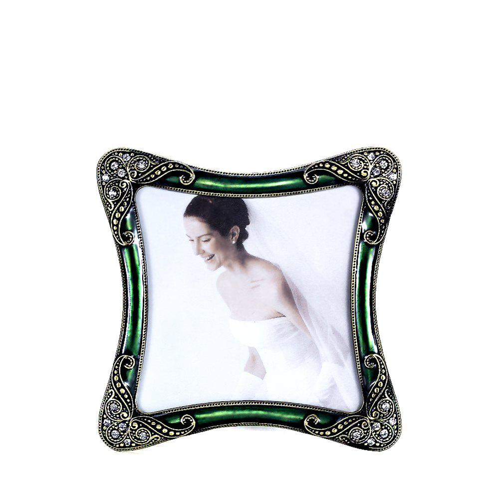 Affordable Bz-01 European Retro Artificial Diamond Metal Photo Frame