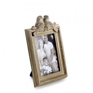 Bz-02 Vintage Rustic Bird Resin Photo Frame -