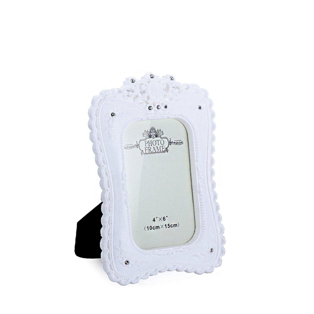 Latest Bz-07 Rustic White Resin-Encrusted Picture Frame