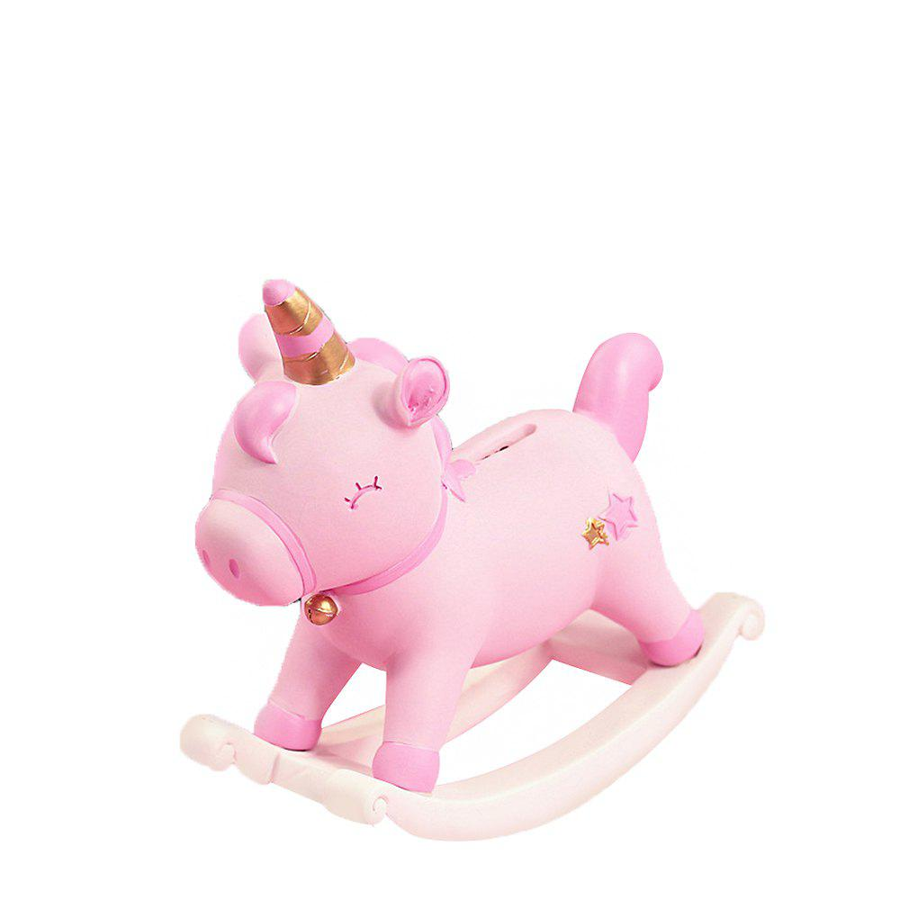 Shops CM-1028-5 Nordic Style Home Pink Girl Heart Trojan Horse Ornament