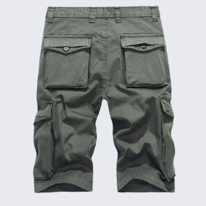 Men's Plus Size Summer Pockets Straight Tooling Shorts -