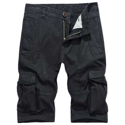 Cheap Men's Plus Size Summer Pockets Straight Tooling Shorts