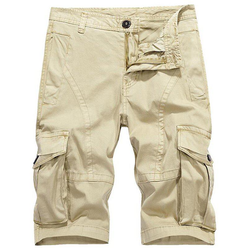 Latest Men's Plus Size Summer Pockets Straight Tooling Shorts