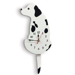 Cartoon Acrylic Tail Dog Creative Wall Clock -