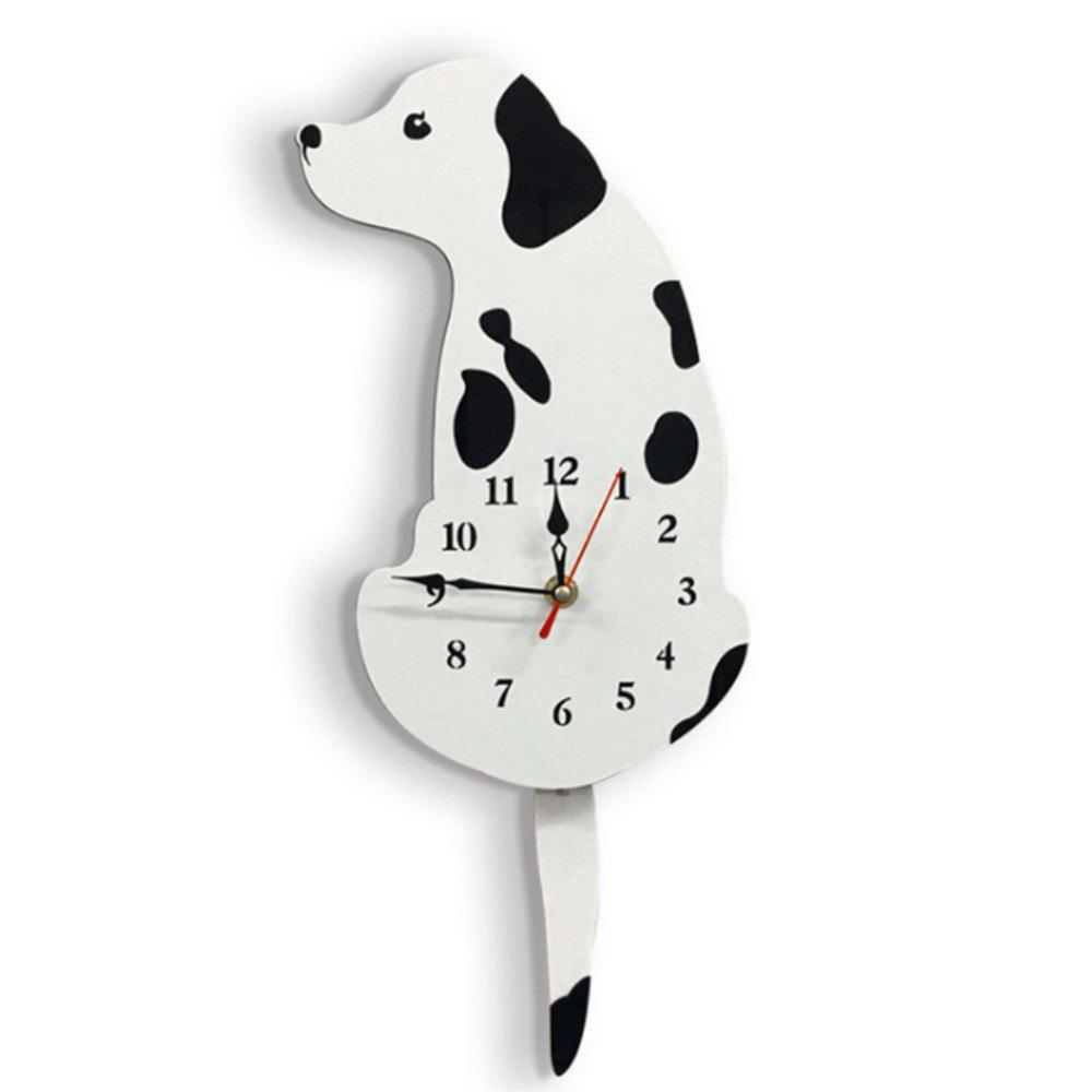 Latest Cartoon Acrylic Tail Dog Creative Wall Clock