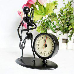 Music Metal Iron Man Clock Office Decoration -
