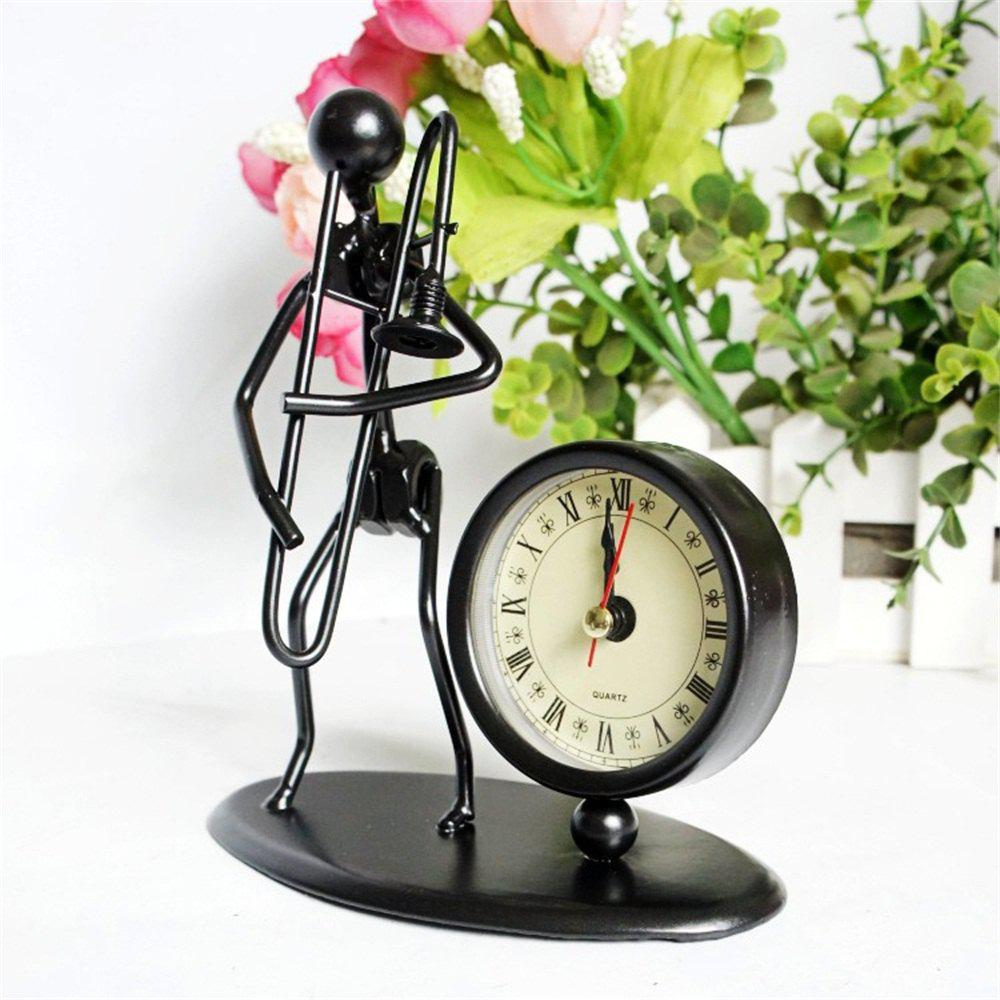 Best Music Metal Iron Man Clock Office Decoration