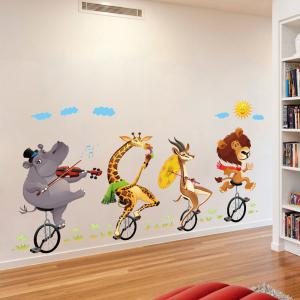 Vélo animaux Buddy 3D Cartoon autocollants Creative décoration -