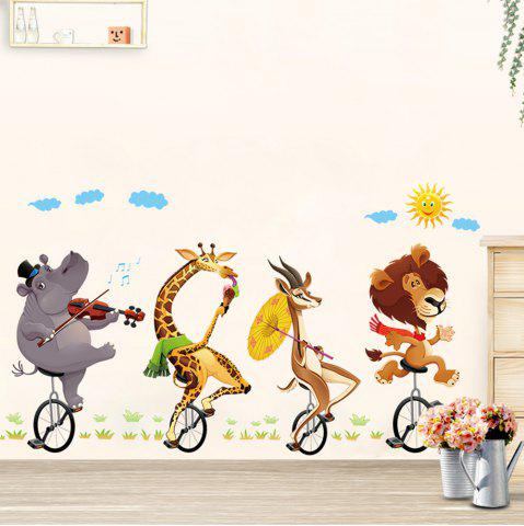 Vélo animaux Buddy 3D Cartoon autocollants Creative décoration