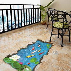 3D Cartoon Fish Pattern Wall Stickers Creative Home Decoration -