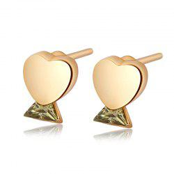Boucles d'oreilles en zircon fines coeur simple mode ERZ0279 -