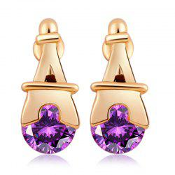 Personality Pagoda Fine Zircon Earrings ERZ0280 -