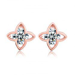 Fashion Hollowed Out Petals Exquisite Zircon Earrings ERZ0289 -