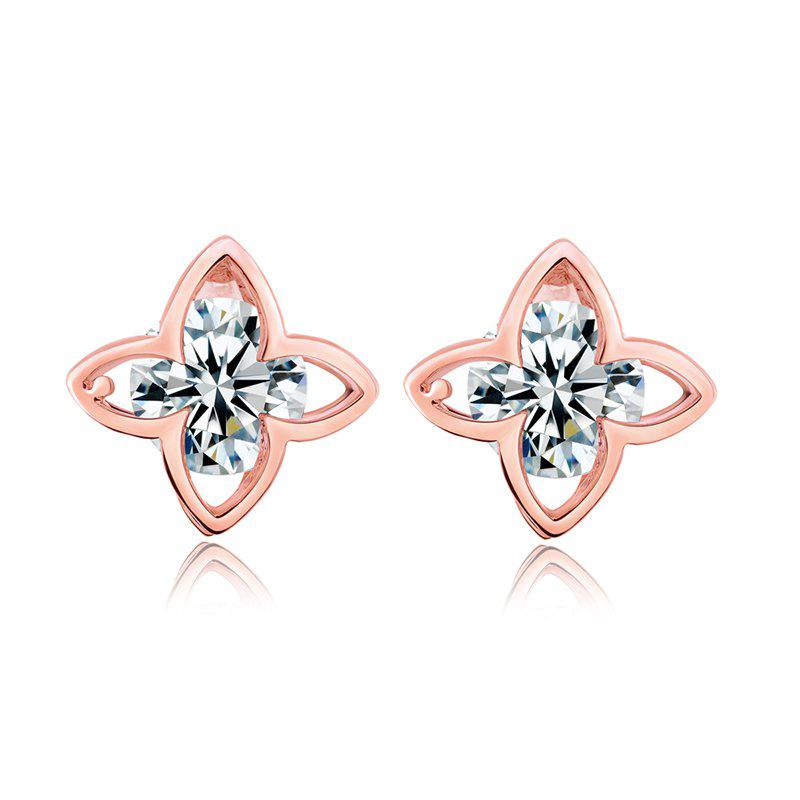 Fashion Fashion Hollowed Out Petals Exquisite Zircon Earrings ERZ0289