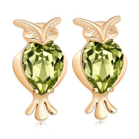 Online Lovely Owl Exquisite Zircon Earrings ERZ0291