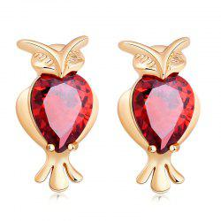 Lovely Owl Exquisite Zircon Earrings ERZ0291 -