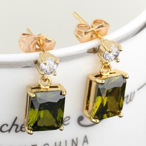 Fashionable Square Zircon Earrings ERZ0296 -