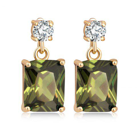 Trendy Fashionable Square Zircon Earrings ERZ0296
