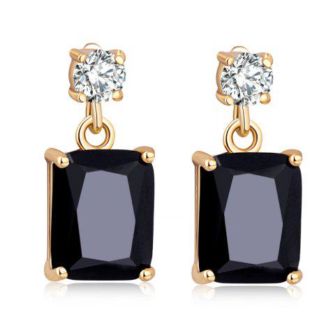Store Fashionable Square Zircon Earrings ERZ0296