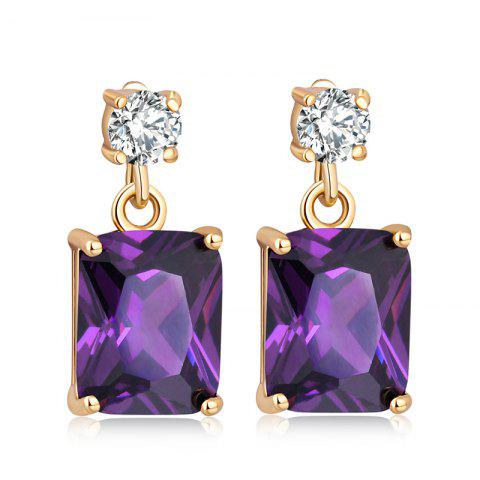 Hot Fashionable Square Zircon Earrings ERZ0296