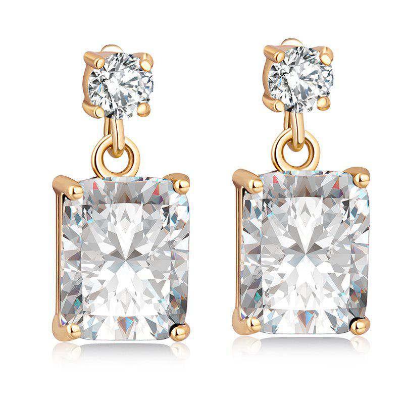 Latest Fashionable Square Zircon Earrings ERZ0296