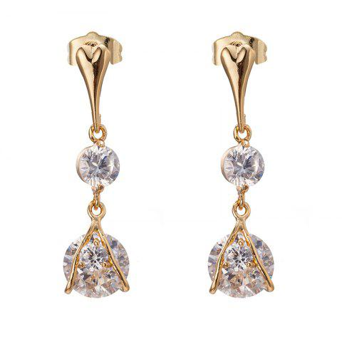 Sale Simple and Exquisite Character Zircon Earrings ERZ0302