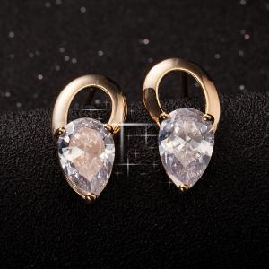 Earringss with Beautiful Individual Droplet ERZ0322 -