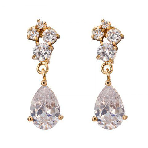 Affordable Earrings with Delicate Petal Drops ERZ0346
