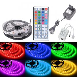 HML 5050 x300 RGB LED Lights Kit with 44key IR Remote Controller and EU-plug -