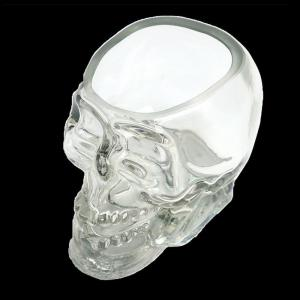 Crystal Skull Whiskey Glass Cup Drinking Ware Bar -