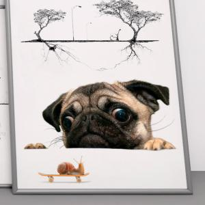 Creative Cute Puppy Dog Wall Stickers Decal Home Decoration -