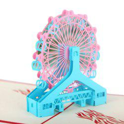 Cartes de voeux 3D Ferris Wheel Model -