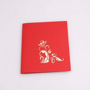 3D Pop up Greeting Card Handmade Flower Vase -