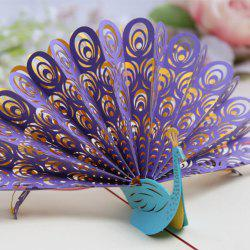 3D Peacock Greeting Card Handmade -