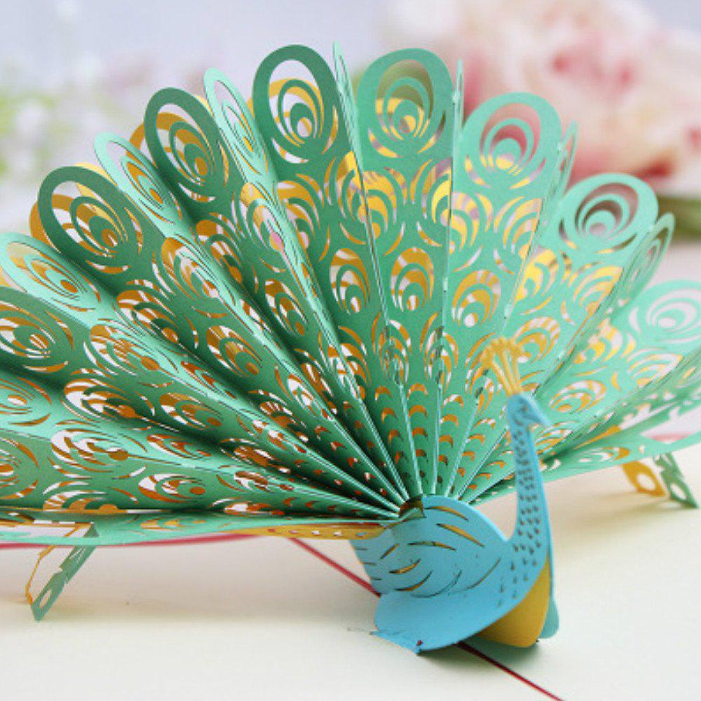 Buy 3D Peacock Greeting Card Handmade