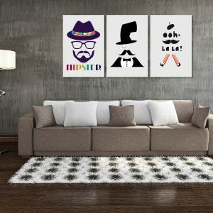 W169 Men Unframed Art Wall Canvas Prints for Home Decorations 3 PCS -