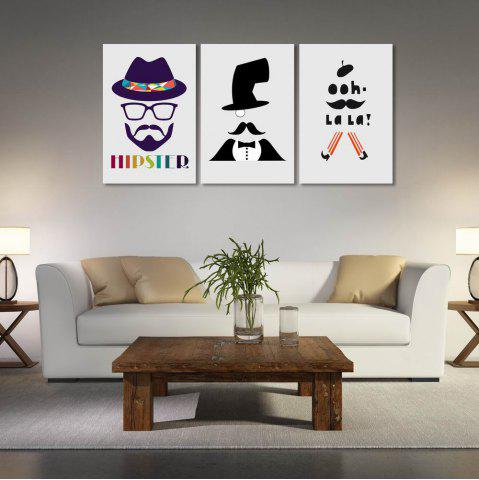 New W169 Men Unframed Art Wall Canvas Prints for Home Decorations 3 PCS