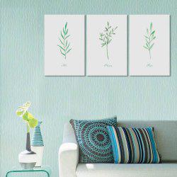 W171 Leaves Unframe Art Wall Canvas Prints for Home Decorations 3 PCS -