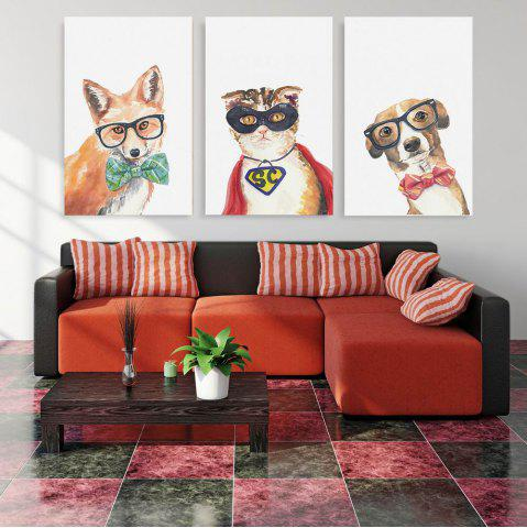 Trendy W174 Animals Unframed Wall Canvas Prints for Home Decorations 3PCS