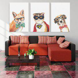 W174 Animals Unframed Wall Canvas Prints for Home Decorations 3PCS -