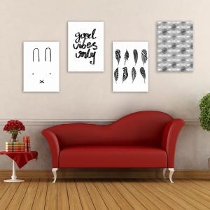 W176 Nordic Style Unframed Wall Canvas Prints for Home Decorations 5PCS -