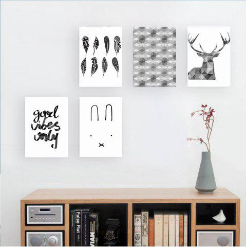 Buy W176 Nordic Style Unframed Wall Canvas Prints for Home Decorations 5PCS