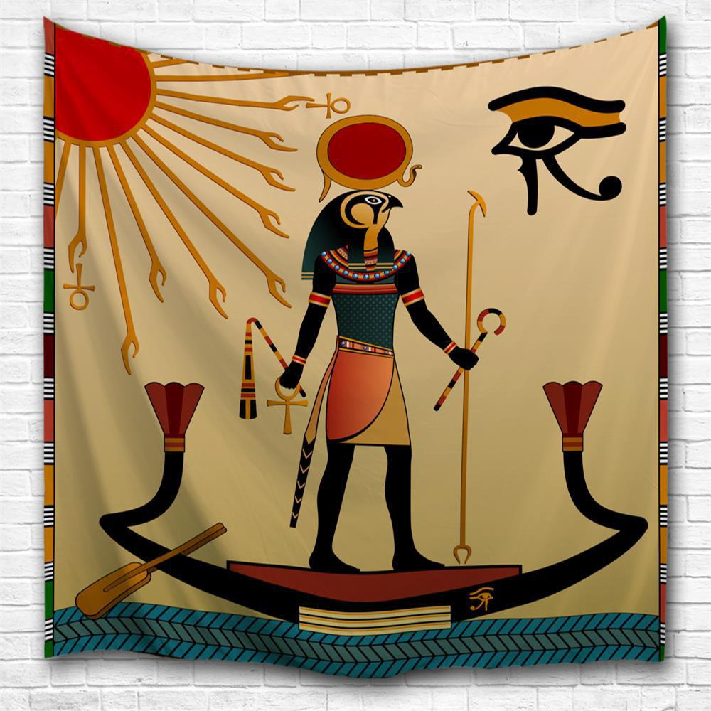 Trendy Egyptian Sun God 3D Printing Home Wall Hanging Tapestry for Decoration