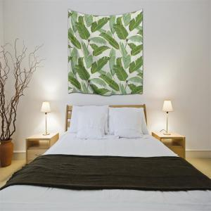 Banana Leaf 3D Printing Home Wall Hanging Tapestry for Decoration -