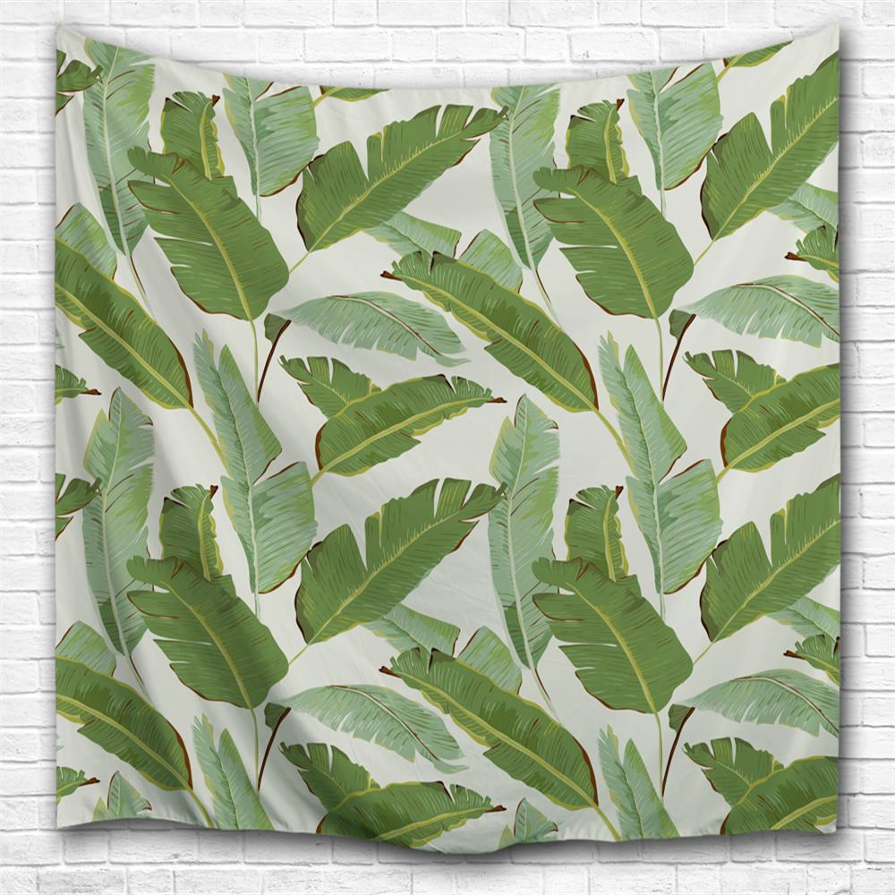 Fancy Banana Leaf 3D Printing Home Wall Hanging Tapestry for Decoration