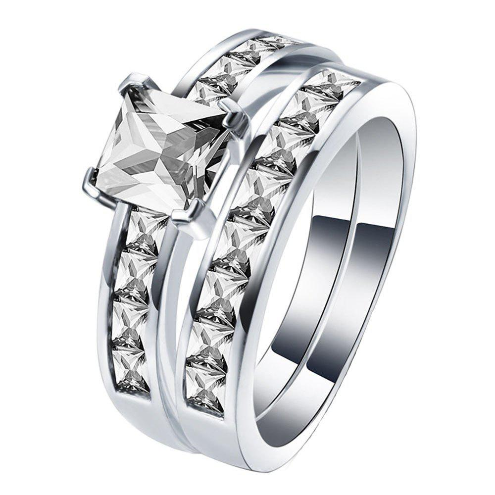 Bague de couple en diamant artificiel Zircon
